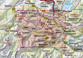 Tannheimer Tal Karte.Alpenvereinskarte Tannheimer Berge