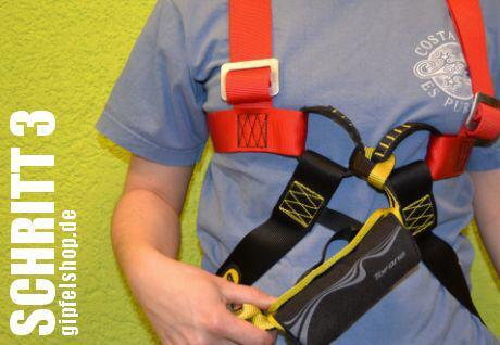Klettersteigset Anlegen : Gebrauchsanweisung einbindung eines klettersteigsets