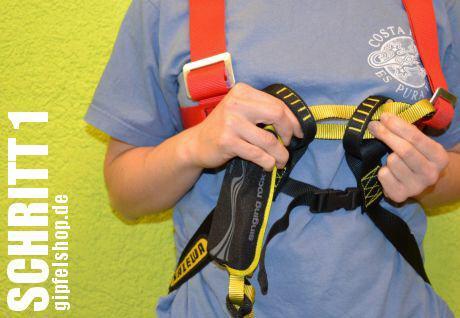 Klettersteigset Mit Bremse : Gebrauchsanweisung einbindung eines klettersteigsets