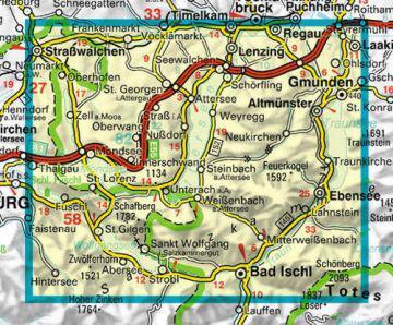 Salzkammergut Karte.Karte Salzkammergut West