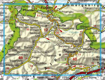 Tannheimer Tal Karte.Karte Tannheimer Tal Reutte